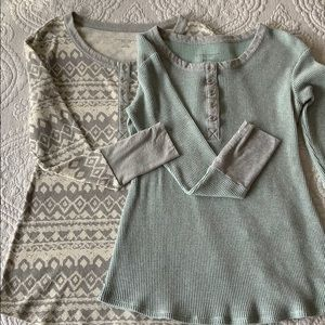 Two long sleeve maternity tops